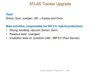 ATLAS Tracker Upgrade