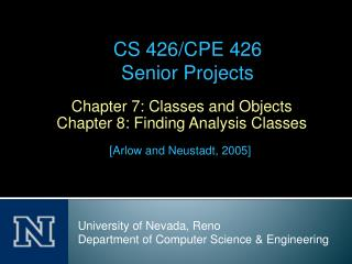 Chapter 7: Classes and Objects Chapter 8: Finding Analysis Classes