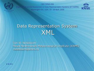 Data Representation System XML