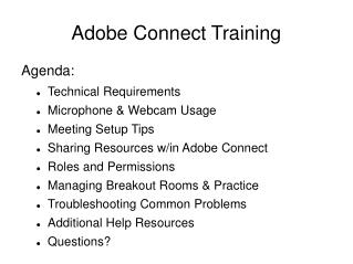 Adobe Connect Training