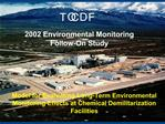 Model for Evaluating Long-Term Environmental Monitoring Effects at Chemical Demilitarization Facilities