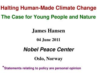 Halting Human-Made Climate Change