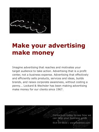 Make your advertising make money