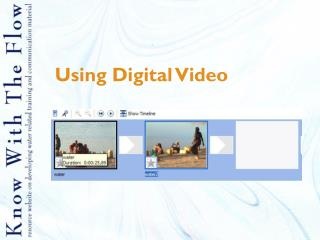 Using Digital Video