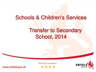 Schools & Children's Services Transfer to Secondary School, 2014