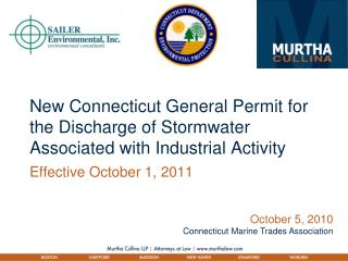 New Connecticut General Permit for the Discharge of Stormwater Associated with Industrial Activity