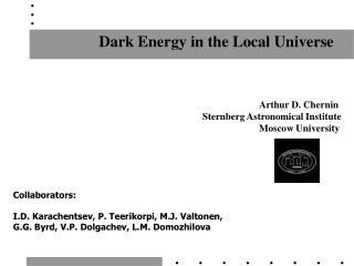 Dark Energy in the Local Universe
