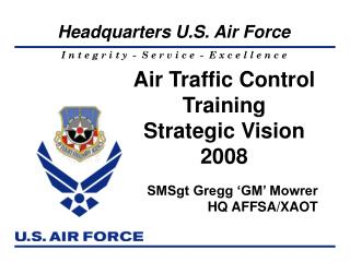 Air Traffic Control  Training Strategic Vision  2008