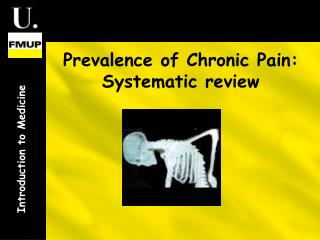 Prevalence of Chronic Pain: Systematic review