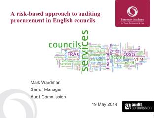 A risk-based approach to auditing procurement in English councils