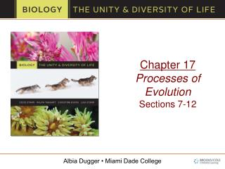 Chapter 17 Processes of Evolution Sections 7-12