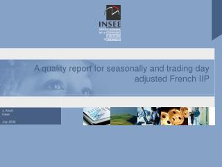 A quality report for seasonally and trading day adjusted French IIP