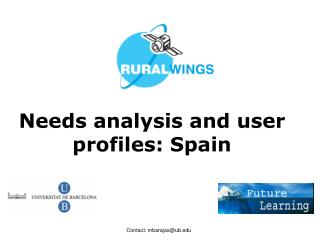 Needs analysis and user profiles: Spain