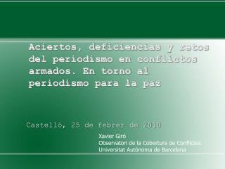 Castelló, 25 de febrer de 2010