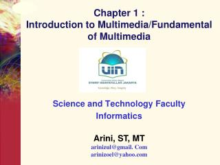 Chapter 1 :  Introduction to Multimedia/Fundamental of Multimedia