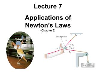 Lecture 7 Applications of Newton's Laws