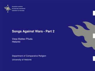Songs Against Wars - Part 2