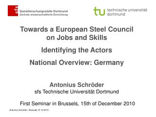 First Seminar in  Brussels , 15th of  December  2010