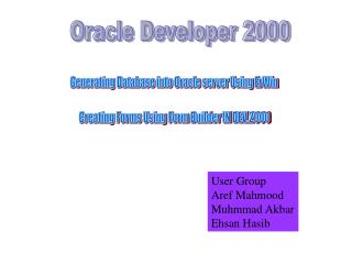 Oracle Developer 2000
