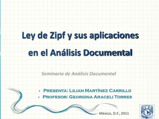 Seminario de Análisis Documental