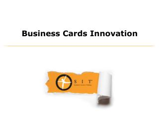 Business Cards Innovation