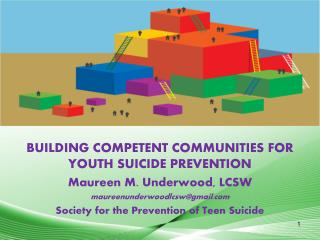 BUILDING COMPETENT COMMUNITIES FOR YOUTH SUICIDE PREVENTION Maureen M. Underwood, LCSW
