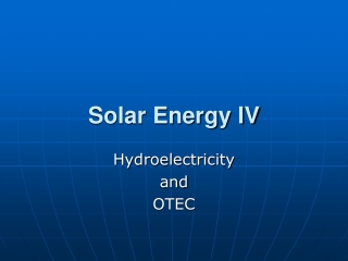 Solar Energy IV