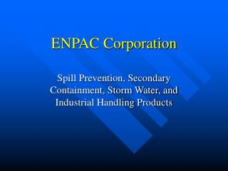 ENPAC Corporation