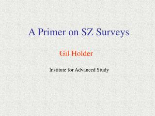 A Primer on SZ Surveys