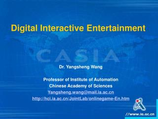 Digital Interactive Entertainment