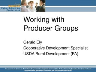Working with Producer Groups