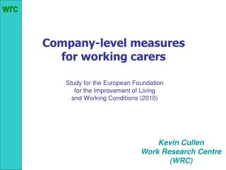 Company-level measures  for working carers