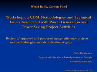 World Bank, Carbon Fund