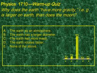 "Why does the earth ""have more gravity,"" i.e. g is larger on earth, than does the moon?"