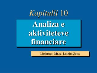 Analiza e aktiviteteve financiare
