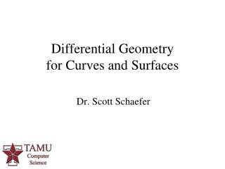 Differential Geometry  for Curves and Surfaces