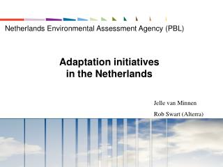 Adaptation initiatives in the Netherlands