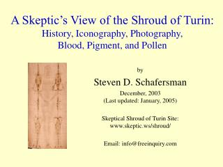 by Steven D. Schafersman December, 2003 (Last updated: January, 2005)
