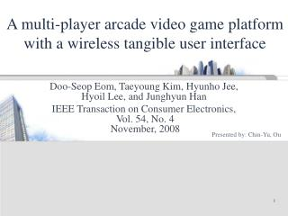 A multi-player arcade video game platform with a wireless tangible user interface