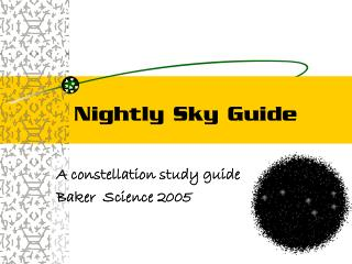Nightly Sky Guide