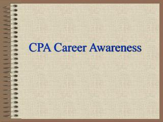 CPA Career Awareness