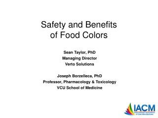 Safety and Benefits of Food Colors