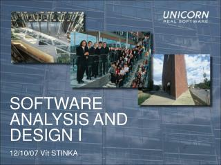 SOFTWARE ANALYSIS AND DESIGN I