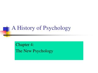 A History of Psychology
