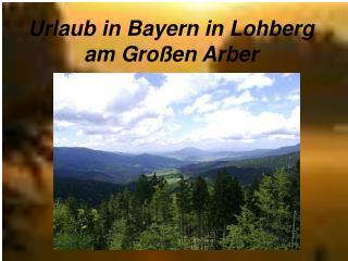 Urlaub in Bayern in Lohberg am Großen Arber