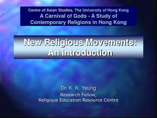 New Religious Movements: An Introduction