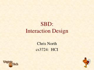 SBD: Interaction Design