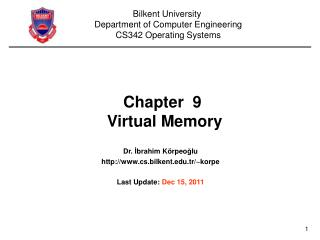 Chapter  9  Virtual Memory