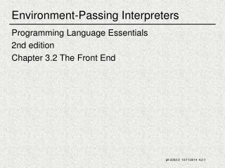 Environment-Passing Interpreters