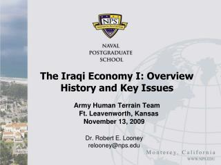 The Iraqi Economy I: Overview History and Key Issues